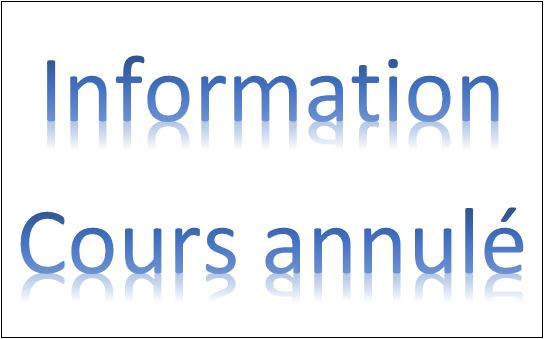 Information cours annule